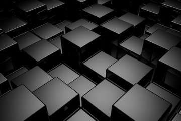 Abstract background of cubes. 3D rendering. © dekzer007