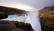 Gullfoss waterfall in sunset, Iceland