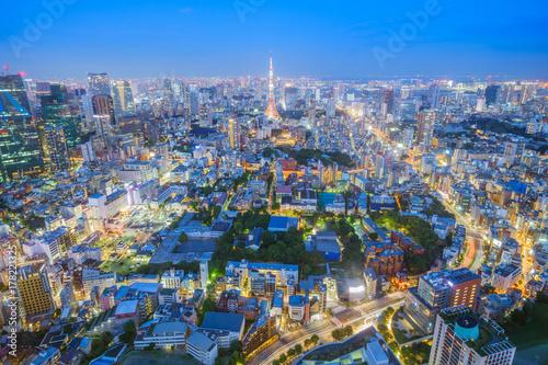 Foto op Aluminium Beijing night view of Tokyo city, Japan