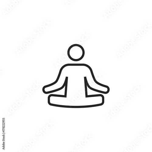 Poster Lotus Position Icon Vector Isolated