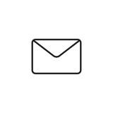 Envelope Icon Vector Isolated - 178223188