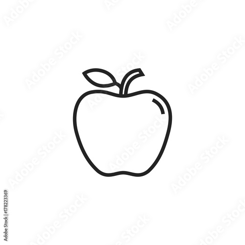 Apple Icon Vector Isolated - 178223369