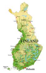 Finland Relief map © bogdanserban
