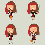 Halloween Pirate Girl Wall Sticker