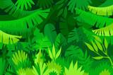 Tropical Forest Jungle Landscape Wall Sticker