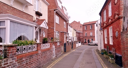 Fotobehang Smalle straatjes Angleterre great britain Royaume uni Yorkshire Scarborough ruelle typique