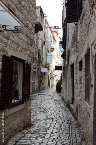 Poster Smal steegje Croatia Trip