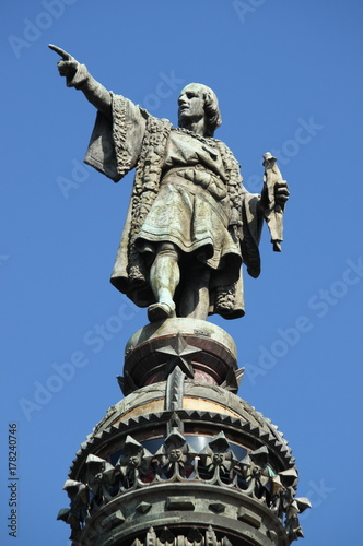 Fotobehang Barcelona Statue of Christopher Columbus in Barcelona, Spain