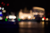 Abstract composition with London lights, blurred