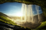 Fototapety Seljalandfoss waterfall in summer time, Iceland