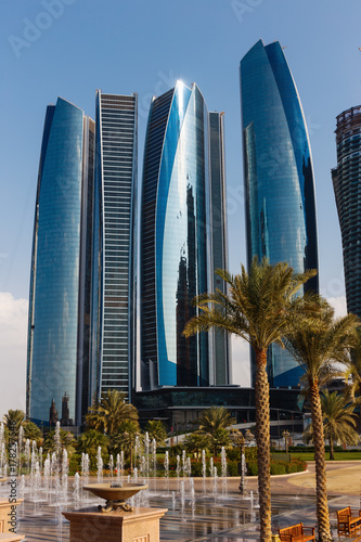 Foto op Canvas Abu Dhabi Skyscrapers in Abu Dhabi, United Arab Emirates