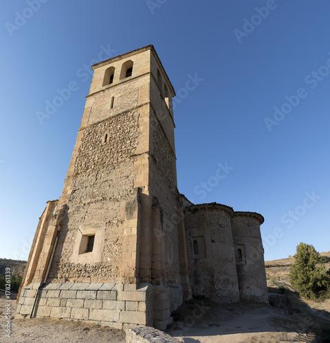 Veracruz medieval church, ancient templar church in Segovia, Spain Poster