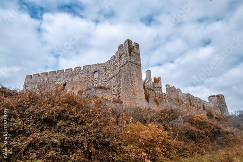 Manorbier castle pembrokeshire south west wales uk Poster