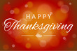 Brown Soft Focus Happy Thanksgiving Vector Horizontal Background 1