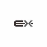 ex letter logo vector