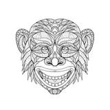 Chimpanzee Head Zentagle - 178281999
