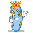King flip flops character cartoon