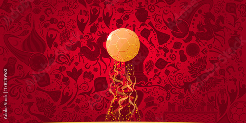 Russian red background, vector illustration - 178299581