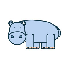 cartoon hippopotamus icon