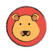 cartoon lion icon