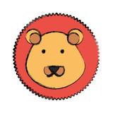 cartoon lion icon