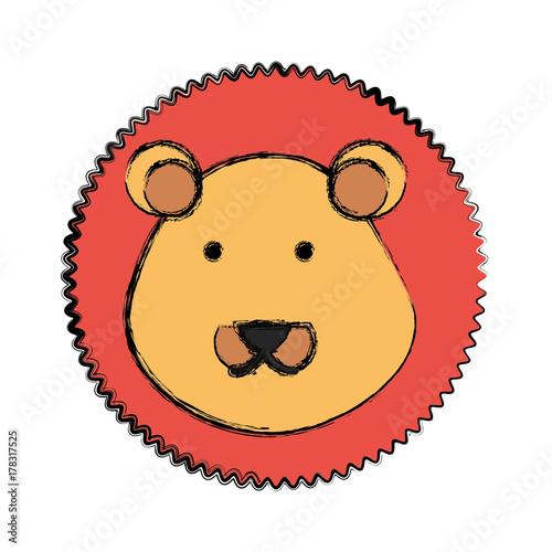 Obraz cartoon lion icon