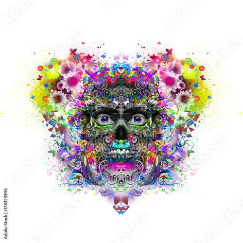 Aluminium Reznik Злой череп красочные иллюстрации искусства