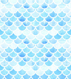 Mermaid scales. Watercolor fish scales. Bright summer pattern with reptilian scales. - 178331177