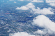 Aerial view of cloud and cityscape - 178335906