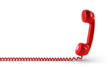 Telefonhörer rot Freisteller