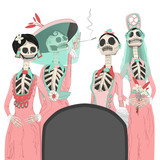 Day of the dead digital illustration for halloween - 178351185
