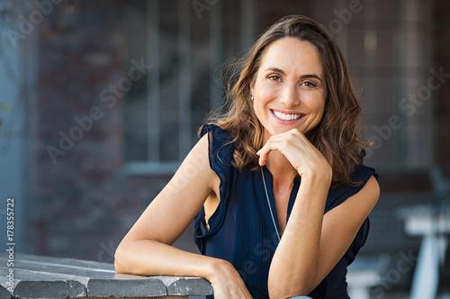 Plakát Happy mature woman outdoor