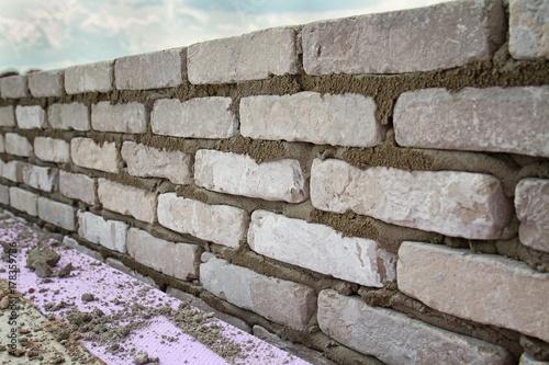 Foto op Canvas Baksteen muur Backsteinmauer