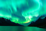 Fototapeta Landscape - Northern lights in Tromsø, Norway © Vegard