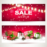 Modern Christmas sale headers - 178369991