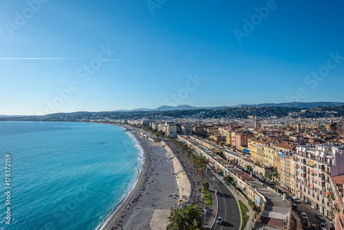 Fotobehang Nice azure coast of the French city of Nice
