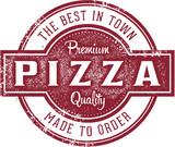 Vintage Pizzeria Menu Stamp - 178380557
