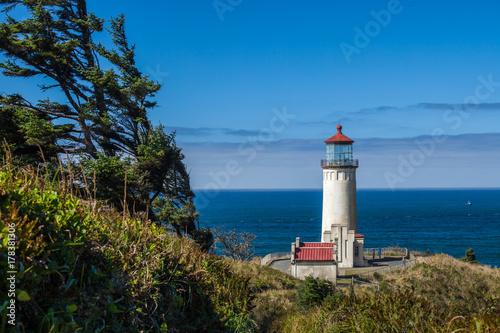Fotobehang Vuurtoren Cape Dissapointment lighthouse, Washington, USA