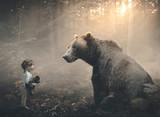 Fototapeta Child room - Little girl and bear © Kevin Carden