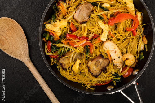 Chinese Style Asian Spicy Singapore Noodles Poster