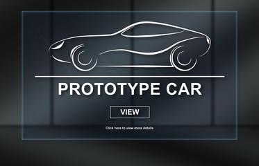 Concept of prototype car
