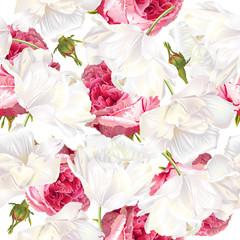 Rose tulip seamless pattern © purplebird
