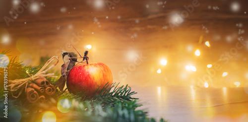 Weihnachten - Apfel Zimt Hintergrund