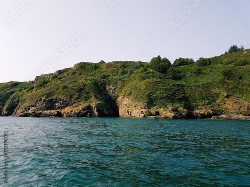 Fotobehang Groen blauw Bretagne