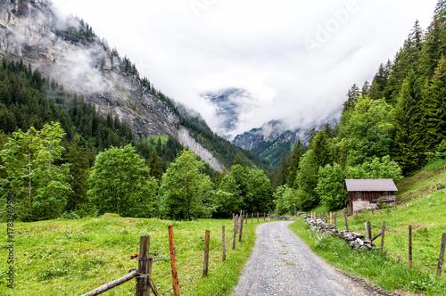 Papiers peints Pistache Lauterbrunnen Valley Switzerland