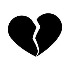 Broken heart symbol icon vector illustration graphic design