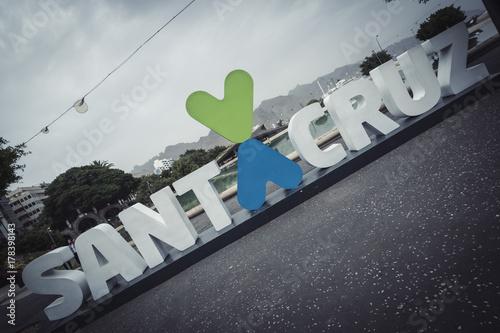 Aluminium Canarische Eilanden Santa Cruz logo in Canary Islands