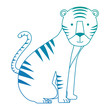 wild tiger isolated icon