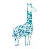 wild giraffe isolated icon - 178402323