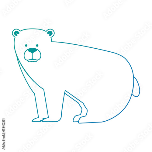 Poster wild grizzly bear icon